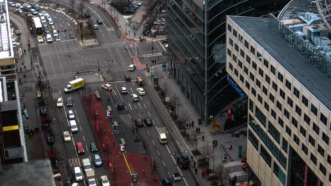 Berlin von oben - Blick auf das Sony Center