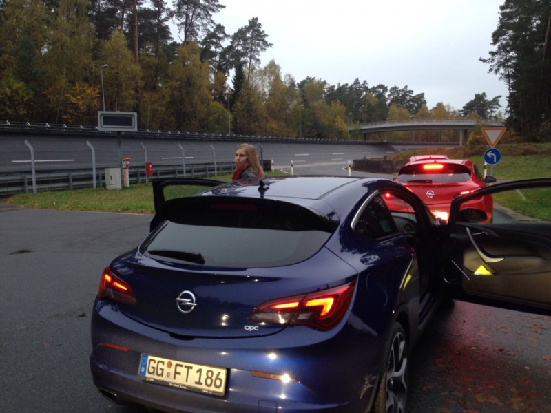 Opel Astra OPC und ich in Dudenhofen