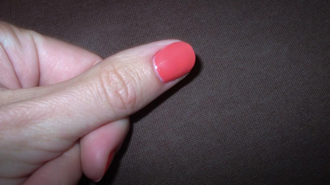 aufgetragener Nagellack