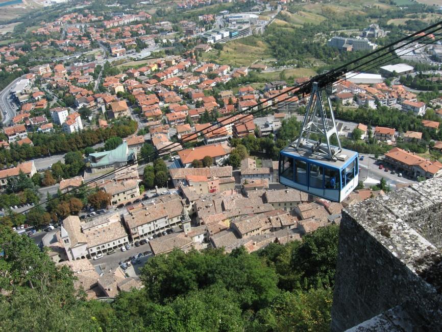 Seilbahn in San Marino