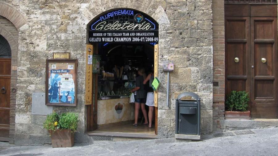 San Gimignano beste Eisdiele der Welt