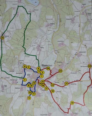 Energielehrpfad Glomm Routen