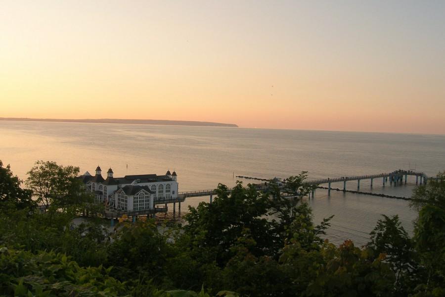 Sellin Seebrücke Sonnenuntergang
