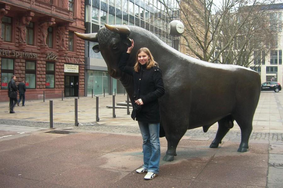 Stier vor Börse Frankfurt