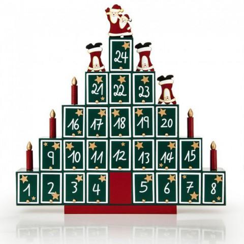 Holz Weihnachtsbaum Adventskalender