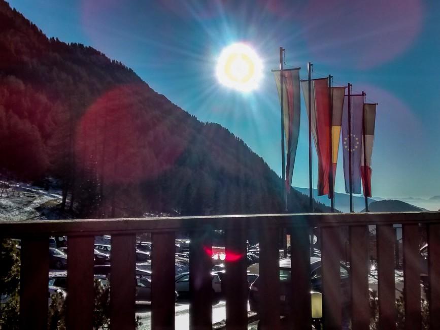 Sonnen im Skigebiet