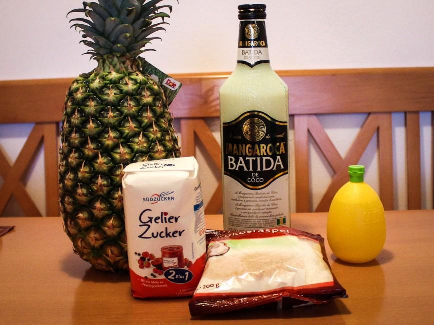 Pina Colada Marmelade Zutaten
