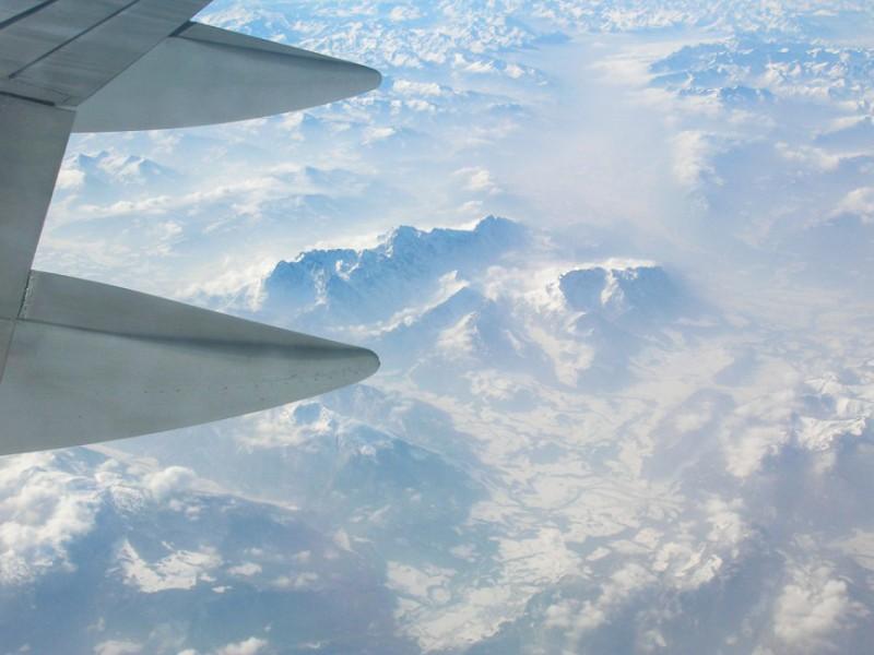 Alpen von Flugzeug aus