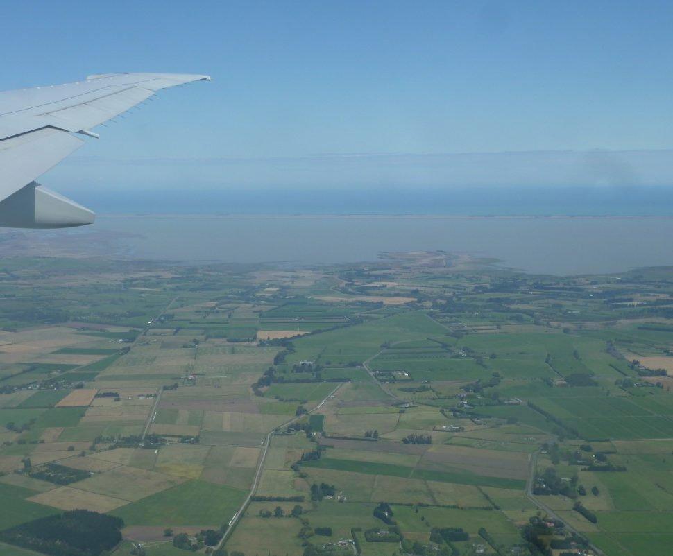 Anreise Flugzeug Christchurch